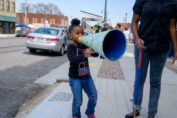 megaphone kid